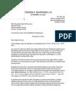 Coursey Letter Re Dismissal