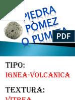 Rocas Pomez y Yeso