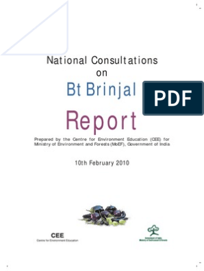 Bt Brinjal Report CEE | Pesticide | Genetically Modified Crops