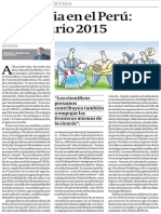 DIARIO GESTION 09.01.15 ARTICULO OPINION CARLOS ANDERSON. La ciencia en el Perú. Calendario 2015.pdf