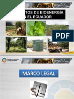 MEER - 2008 - Proyectos de Bioenergía en Ecuador