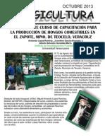 INIFOR DE LA U.V., IMPARTE CURSO DE CAPACITACIÓN PARA LA PRODUCCIÓN DE HONGOS COMESTIBLES EN EL ZAPOTE MPIO. DE TEOCELO VER.