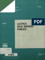 La Etica en El Servicio Publico