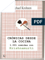 Michael Krohnen - Crónicas desde la cocina (1.001 comidas con Krishnamurti)