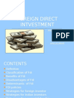 Foreign Direct Int Vestment