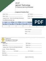 Assignment Evaluation Form