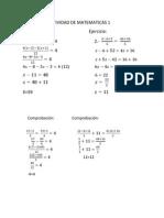 Ejercicio de Matematicas 1