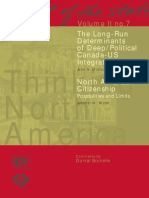 The Long-Run Determinants of Deep/Political Canada-US Integration