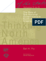 The Role of Sub-National Governments in North American Integration