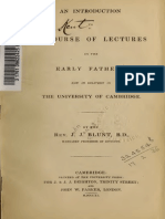 Blunt. An introduction to a course of lectures on the early fathers, now in delivery in the University of Cambridge. 1840.