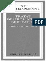Tadeusz Kotarbinski-Tratat Despre Lucrul Bine Facut-Editura Politică (1976)