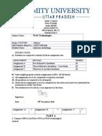 WAN Technologies Assignment