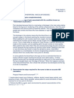 Pheriperal Vascular Disease - Assignment NCM 103- A