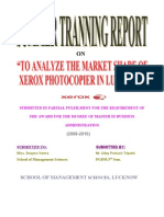 """Project report on """"Xerox"""" To analyze the market share of Xerox photocopier machine in lucknow."""