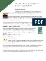 2014 Wisconsin Battle of BooksSenior Level List With Descriptions