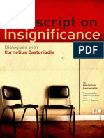 Castoriadis on Insignificance Dialogues