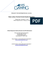 Video Lottery Terminal Central System Operation