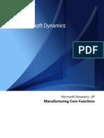 Dynamics GP MFG Core Functions