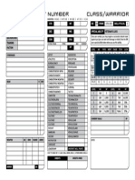 Warrior Character Sheet SWN