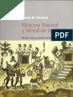 Historia Natural y Moral de Las Indias-Acosta