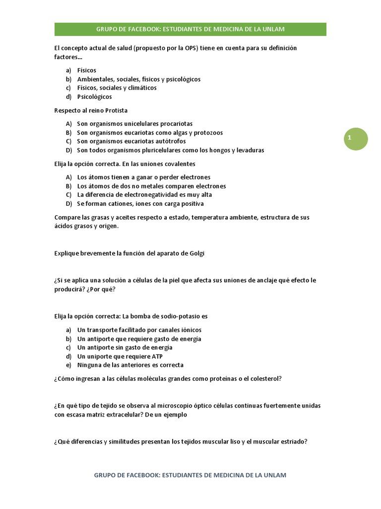 13 Paginas De Preguntas De Parcial Biologia Unlam Mitosis Biologia Celular