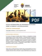 Convocatoria Escuela Internacional Programa de Estudios Sobre La Pobreza y Las Desigualdades