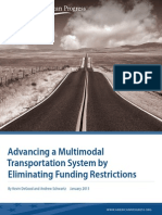 Advancing a Multimodal Transportation System by Eliminating Funding Restrictions