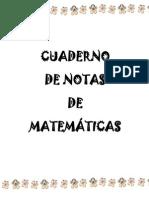 Cuaderno de Notas Matematicas tercer grado de primaria