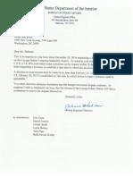 Blackhair Letter to Debruin 30 December 2014