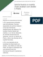 Policía de Francia Busca a Cuarta Sospechosa Tras Acabar Con Doble Secuestro en París - BBC Mundo