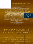 Congressional Reform Act 2010