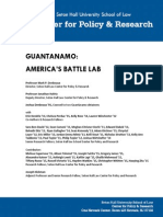 Seton Hall Law Report Guantanamo-Americas Battle Lab 1-9-15