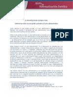Acto Administrativo y Negocio Jurìdico