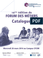 Catalogue Forum Des Metiers