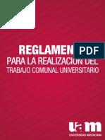 UAM Reglamento de Trabajo Comunal Universitario TCU