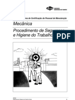 Mecânica - Procedimento de Segurança e Higiene do Trabalho