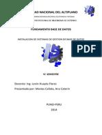 Instalacion de Sistemas de Gestion de Base de Datos