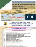 Pembagian Kewenangan Pengelolaan Irigasi PP 20 Th 2006