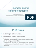 new member alcohol presentation