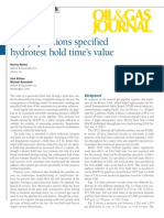 Oil & Gas Journal Article on Hold Time
