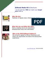 The EURweb Media Kit & Brochure: