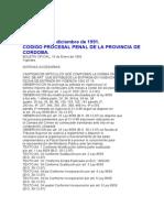 Código procesal penal, de la Provincia de Cordoba
