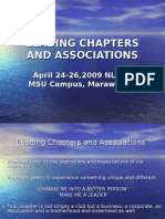 LEADING CHAPTERS AND ASSOCIATIONS