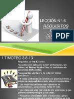 6. Requisitos de Un Diácono