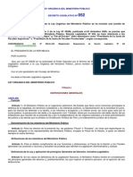Ley Orgánica Del Ministerio Público del peru