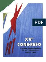 Libro XV Congreso PRT