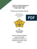 analisis statistik seismisitas Aceh dan sekitarnya