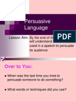 persuasive language powerpoint 2011