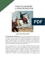 El Genio de Bolívar Por Arturo Uslar Pietri