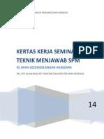 Kertas Kerja Seminar Teknik Menjawab Spm 2014